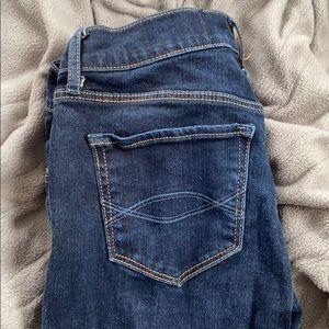 A&F Blue Skinny Jeans
